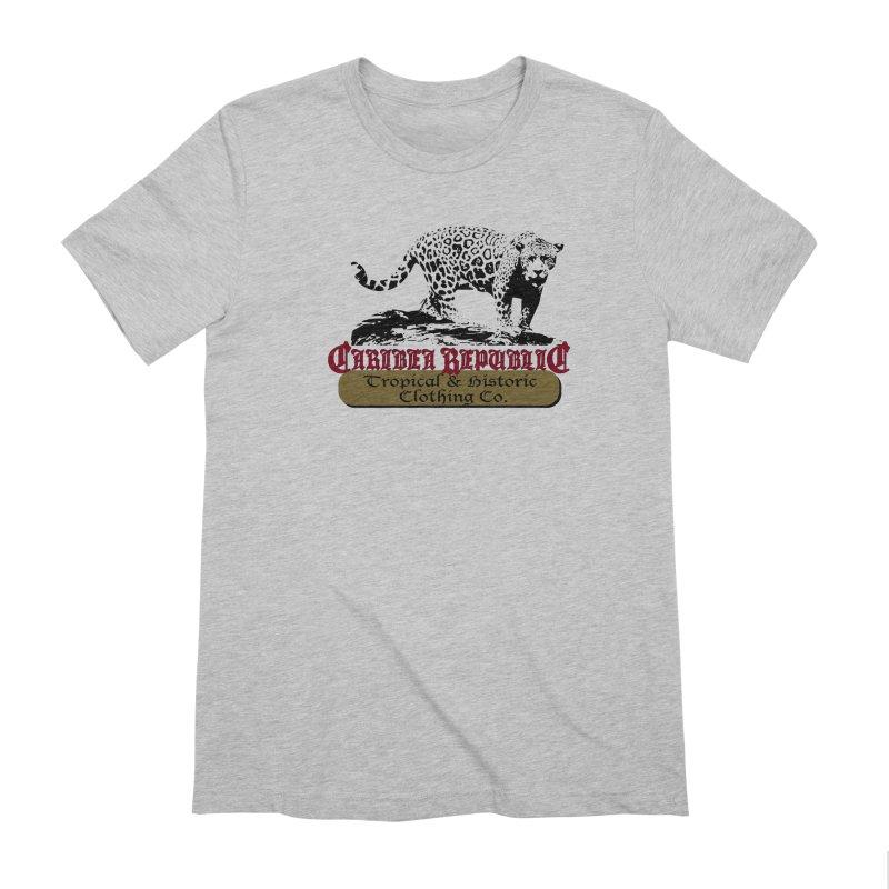 Caribea Jaguar in Men's Extra Soft T-Shirt Heather Grey by Caribea
