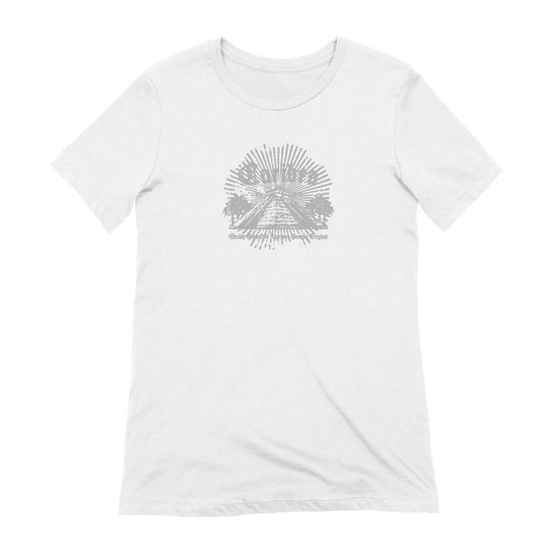 Pyramid Burst Gray Women's Extra Soft T-Shirt by Caribea