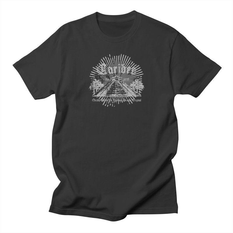 Pyramid Burst Gray Women's Regular Unisex T-Shirt by Caribea