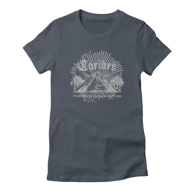 Pyramid Burst Gray Women's T-Shirt by Caribea