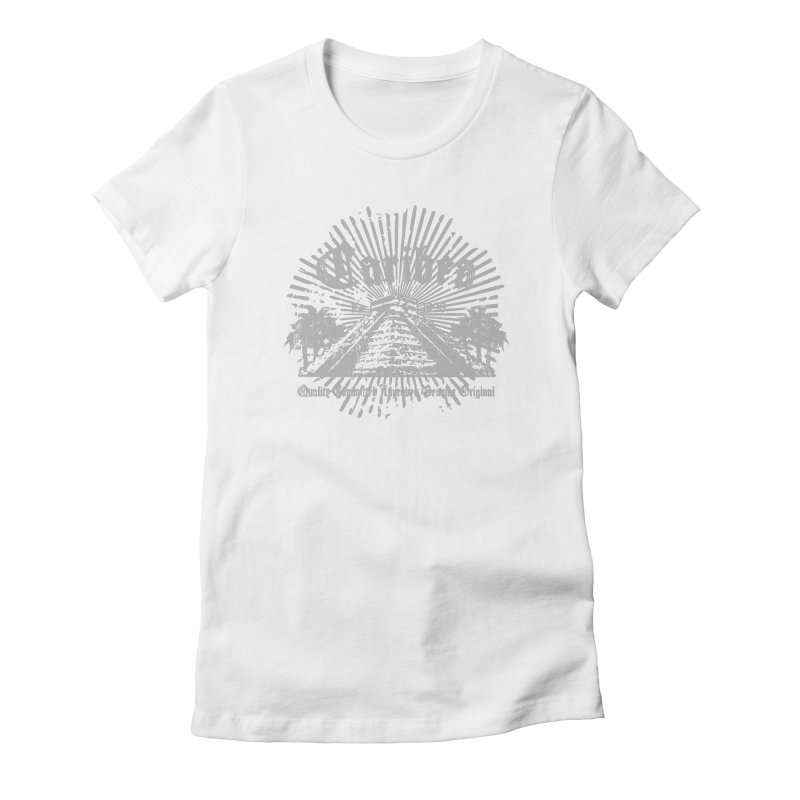 Pyramid Burst Gray Women's Fitted T-Shirt by Caribea