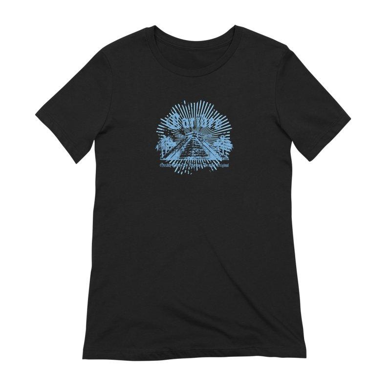 Pyramid Burst Blue Women's Extra Soft T-Shirt by Caribea