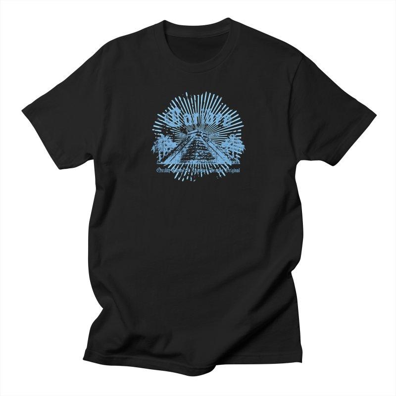 Pyramid Burst Blue Women's Regular Unisex T-Shirt by Caribea