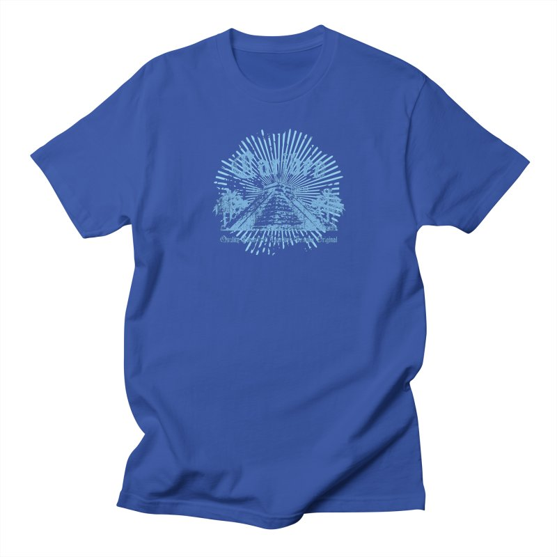 Pyramid Burst Blue Women's Regular Unisex T-Shirt by Caribea