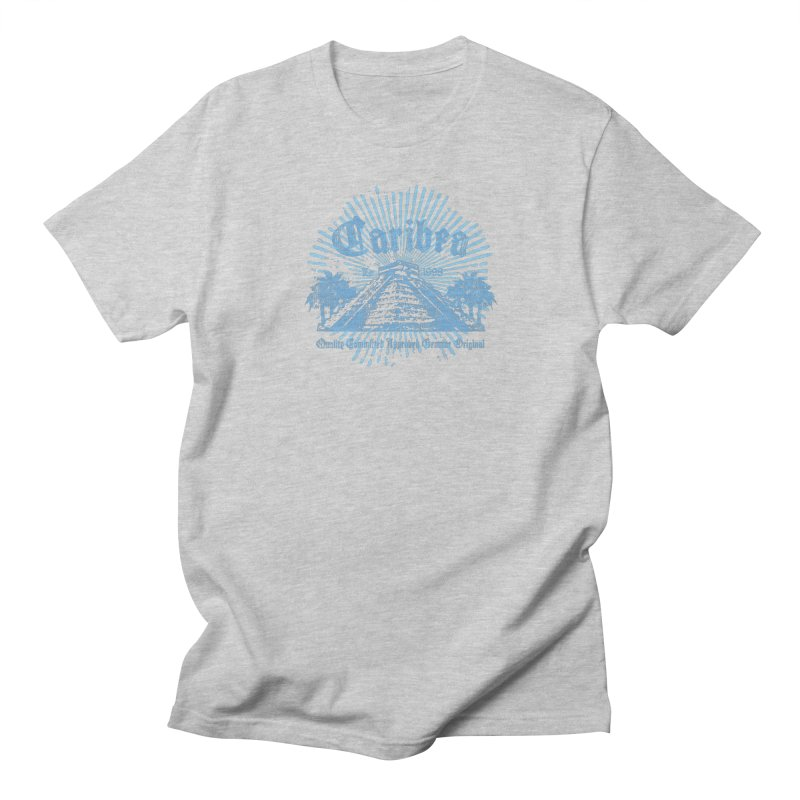 Pyramid Burst Blue Men's Regular T-Shirt by Caribea