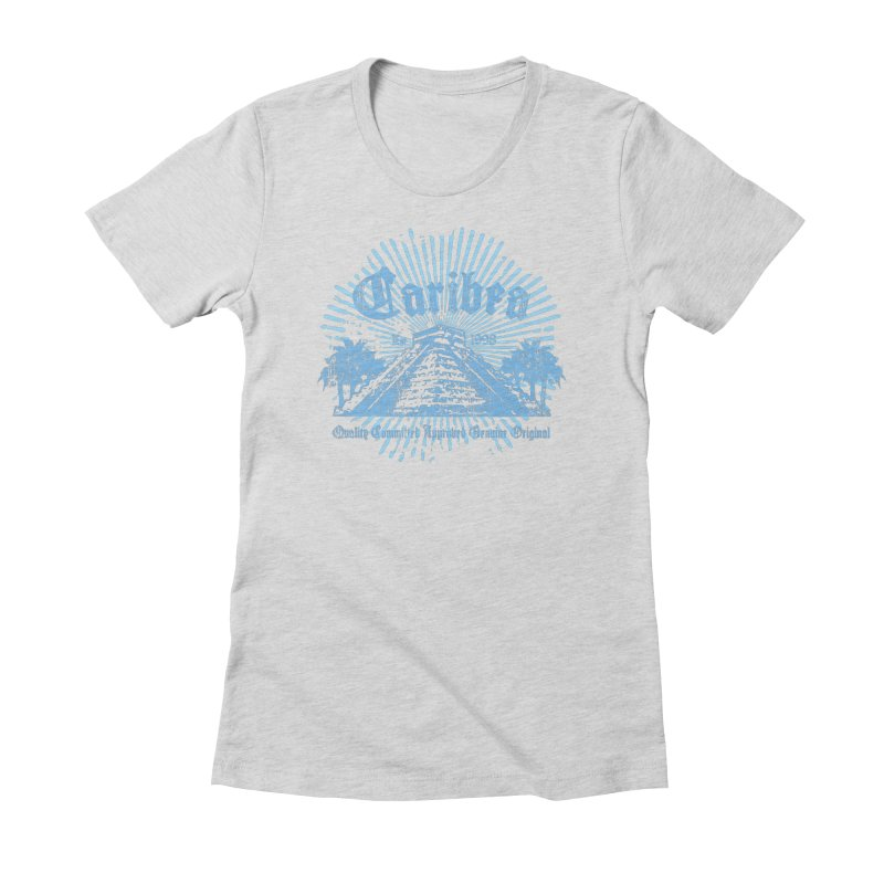 Pyramid Burst Blue Women's Fitted T-Shirt by Caribea