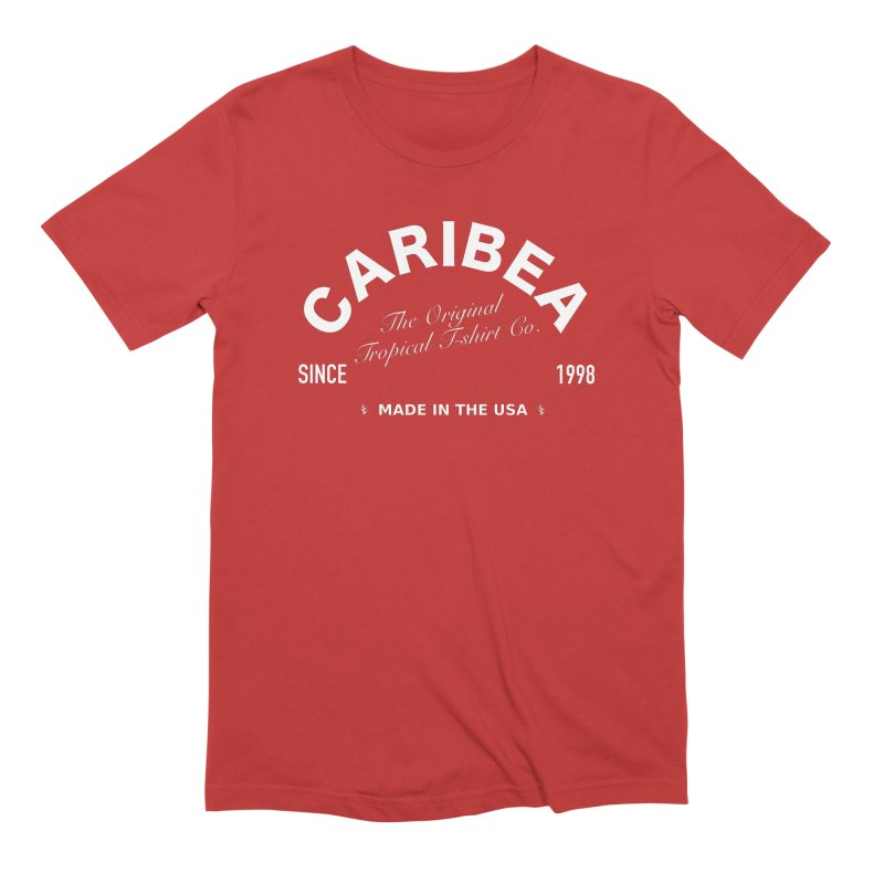 Caribea Banner White Men's Extra Soft T-Shirt by Caribea