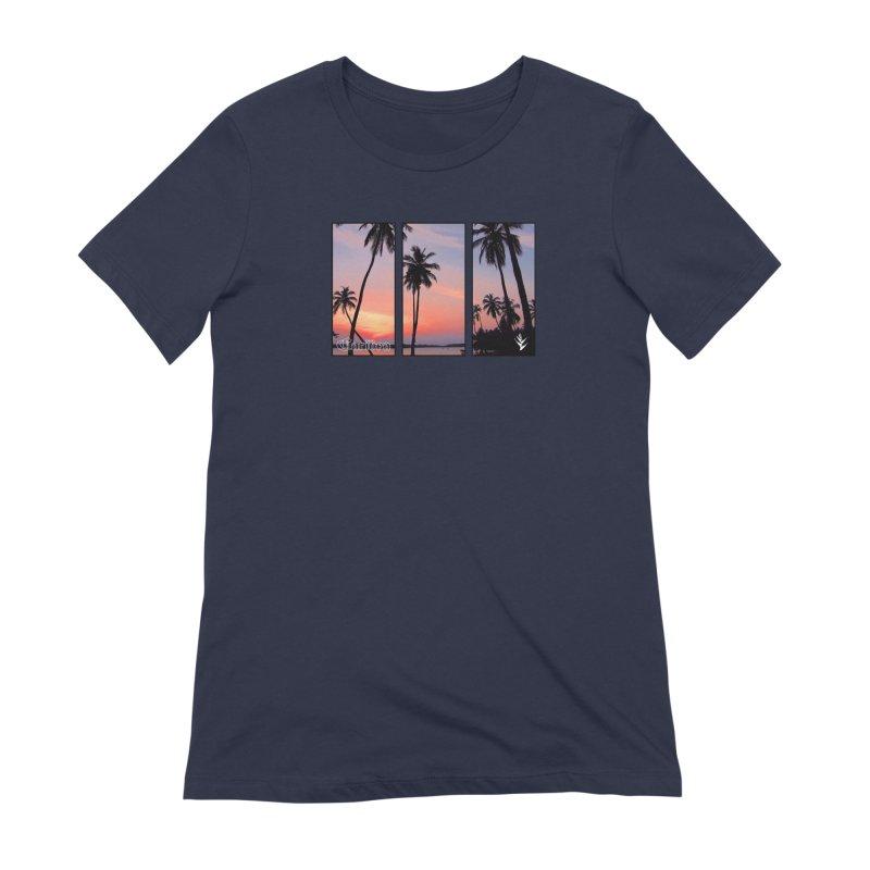 Palm Island Sunset Women's Extra Soft T-Shirt by Caribea