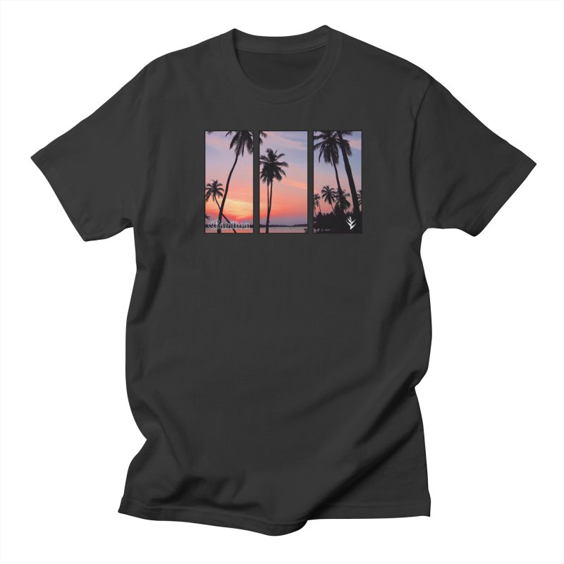 Palm Island Sunset Men's Regular T-Shirt by Caribea