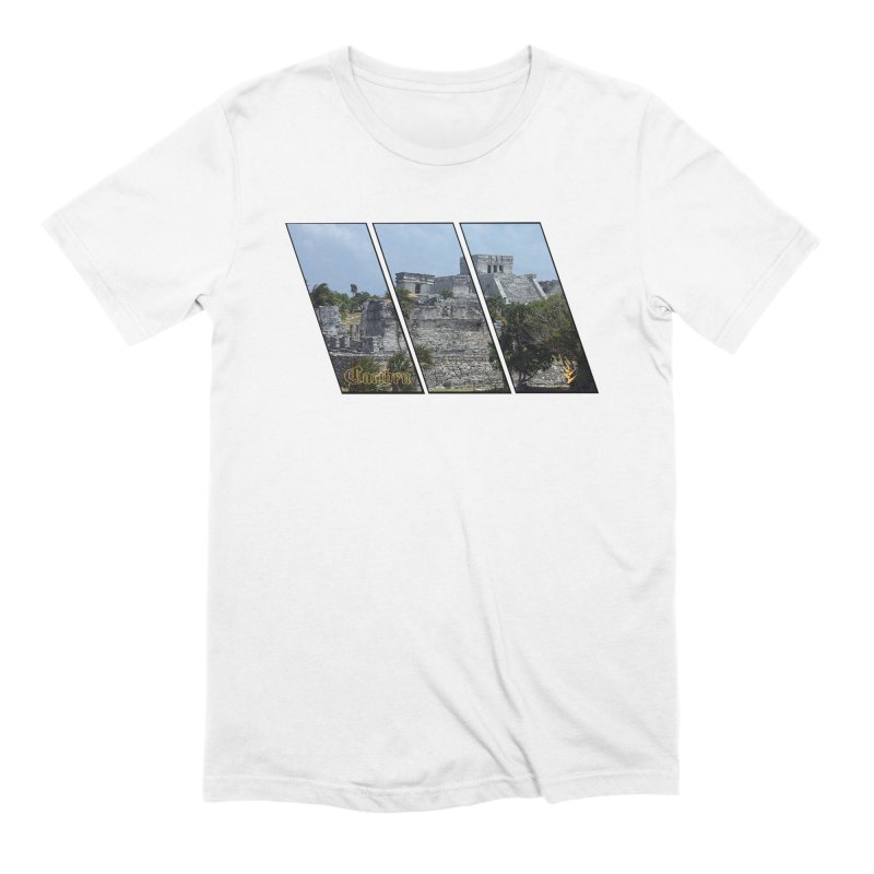 Tulum Slants in Men's Extra Soft T-Shirt White by Caribea