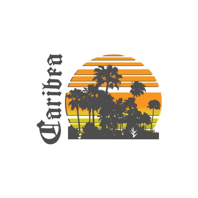 Sunset Palms Beach Men's Tank by Caribea
