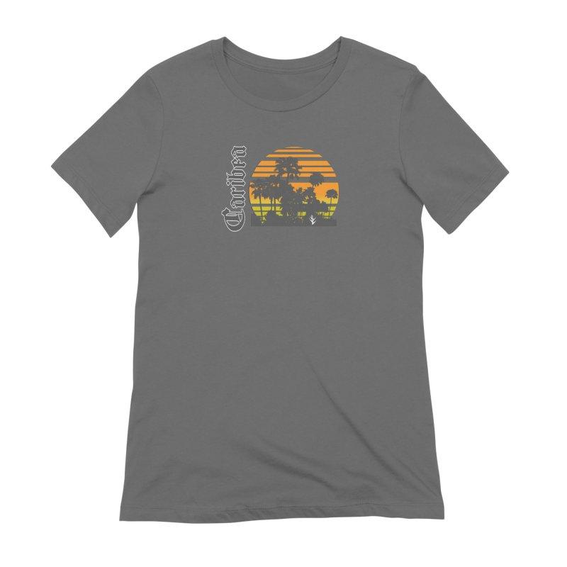 Sunset Palms Beach Women's Extra Soft T-Shirt by Caribea