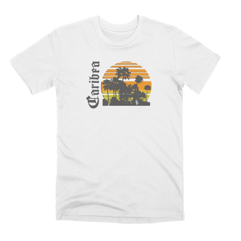 Sunset Palms Beach Men's Premium T-Shirt by Caribea