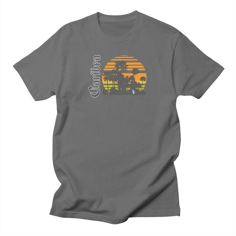 Sunset Palms Beach Men's T-Shirt by Caribea
