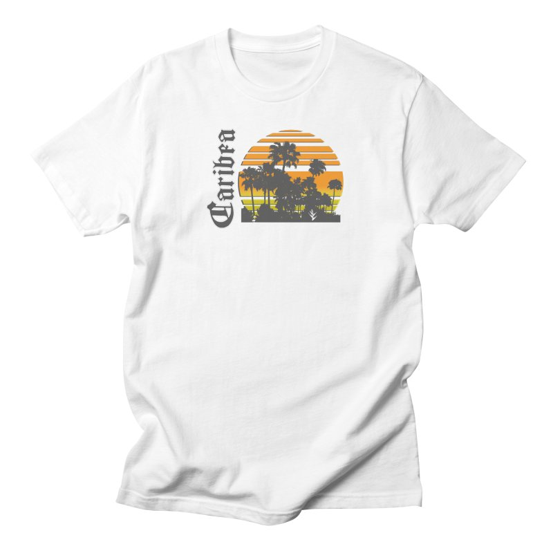 Sunset Palms Beach Men's Regular T-Shirt by Caribea
