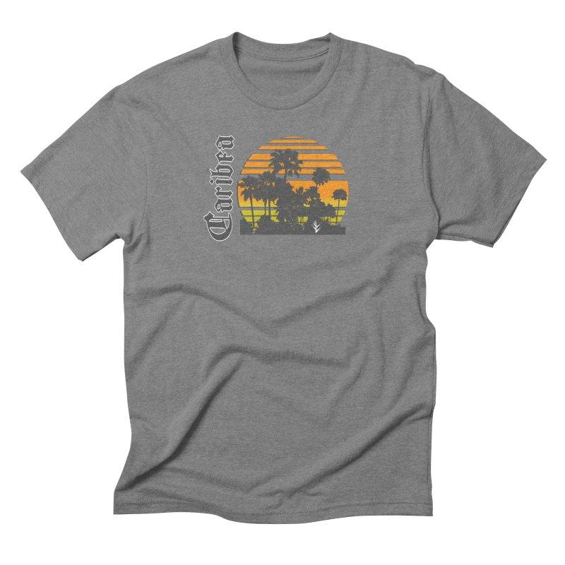 Sunset Palms Beach Men's Triblend T-Shirt by Caribea