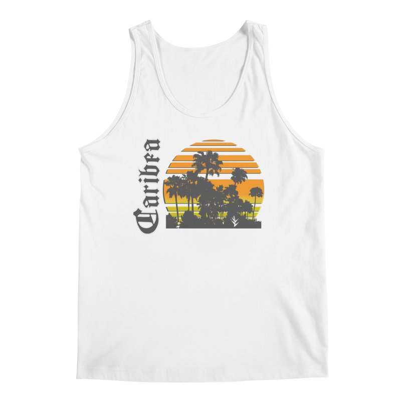 Sunset Palms Beach Men's Regular Tank by Caribea