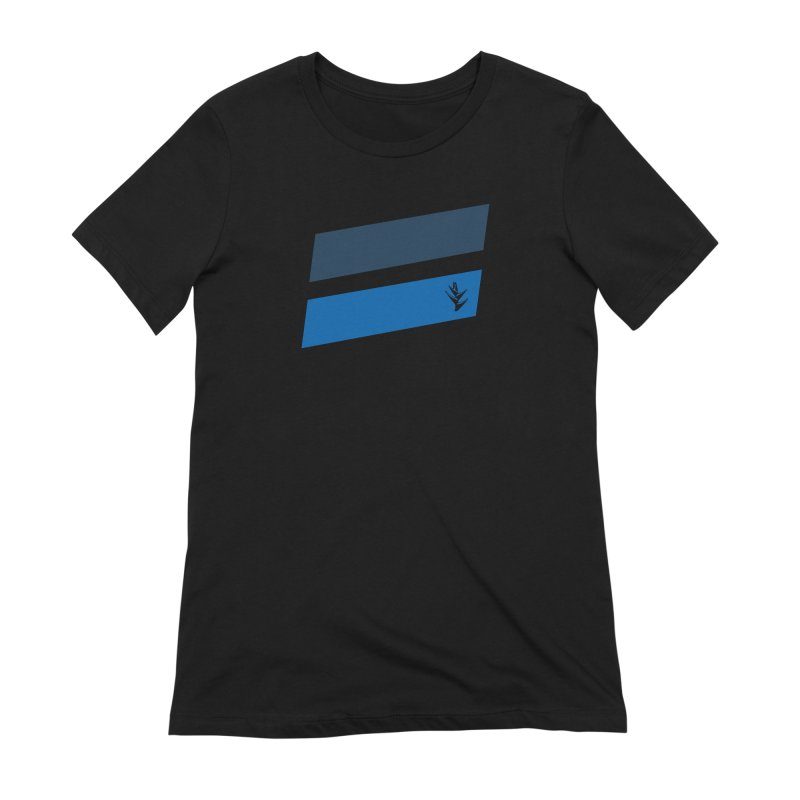 Slants Deep Blue Women's Extra Soft T-Shirt by Caribea