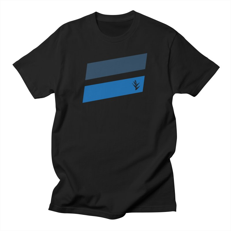 Slants Deep Blue Men's Regular T-Shirt by Caribea