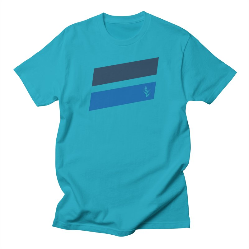Slants Deep Blue Men's T-Shirt by Caribea