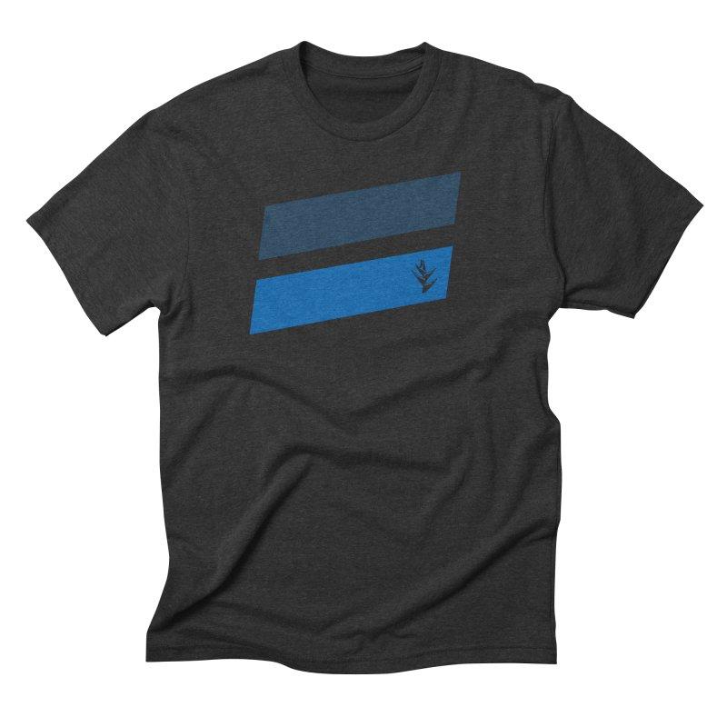 Slants Deep Blue Men's Triblend T-Shirt by Caribea