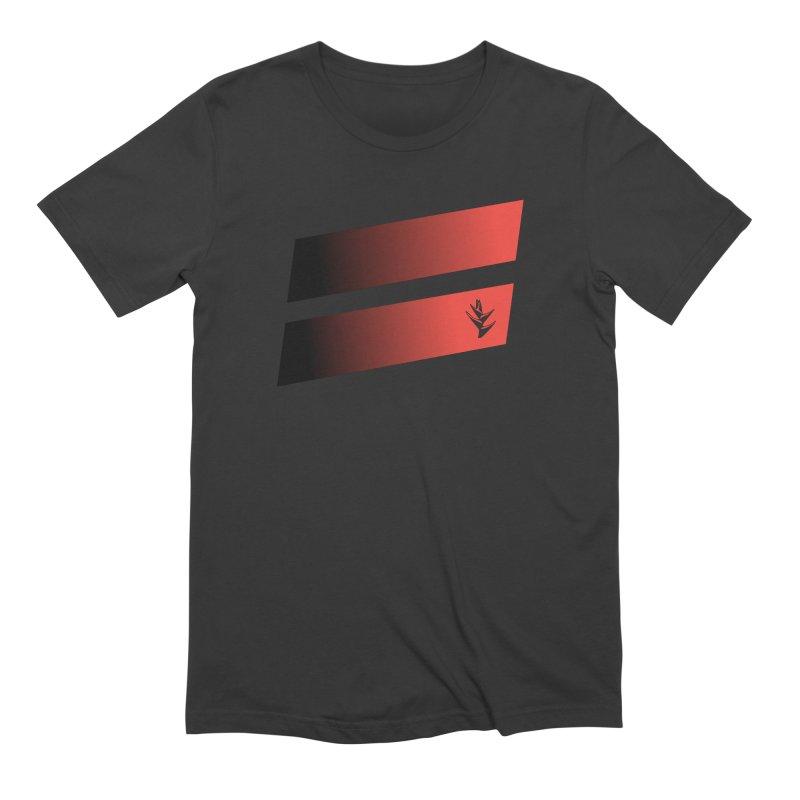 Caribea Red to Black Slants Men's Extra Soft T-Shirt by Caribea