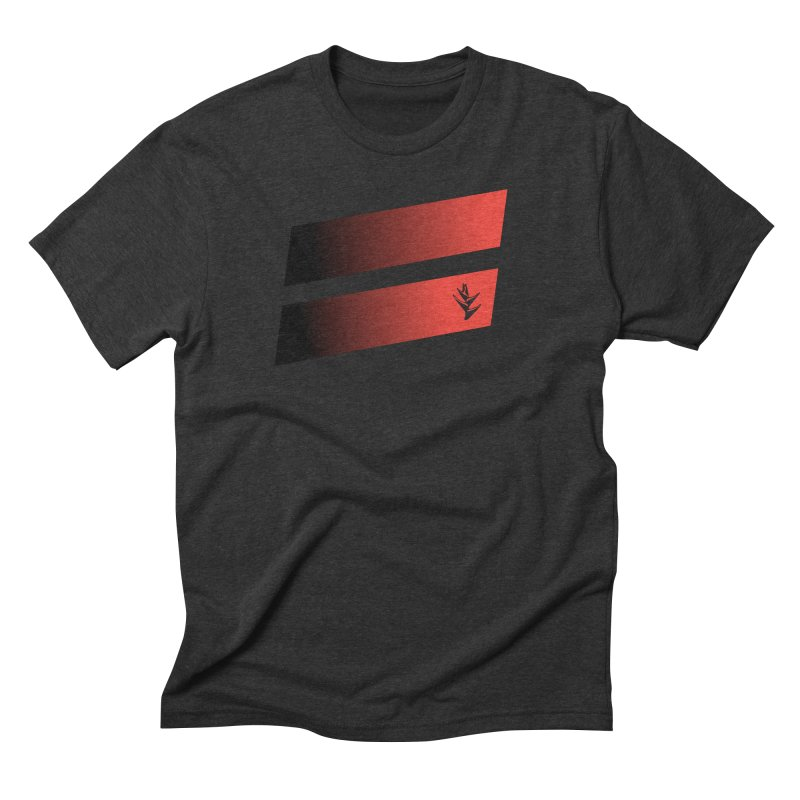 Caribea Red to Black Slants in Men's Triblend T-Shirt Heather Onyx by Caribea