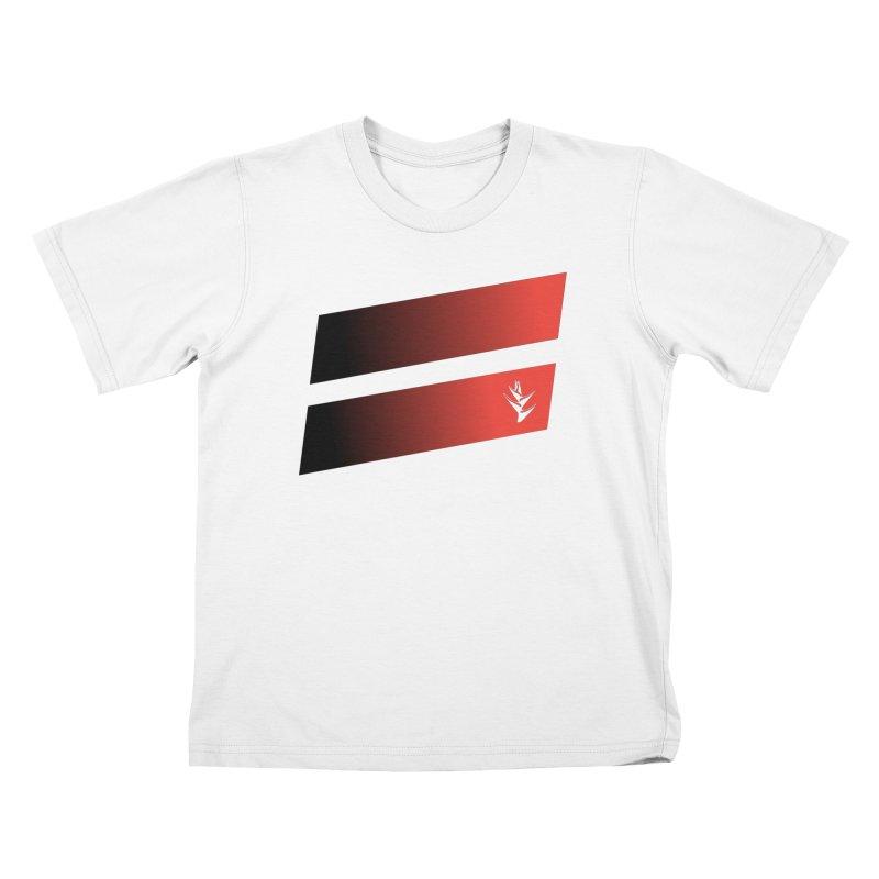 Caribea Red to Black Slants Kids T-Shirt by Caribea