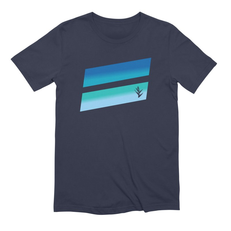 Caribbean Ocean Slants in Men's Extra Soft T-Shirt Navy by Caribea