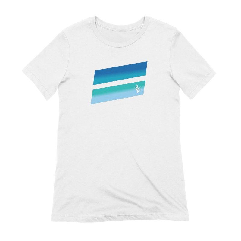 Caribbean Ocean Slants Women's Extra Soft T-Shirt by Caribea