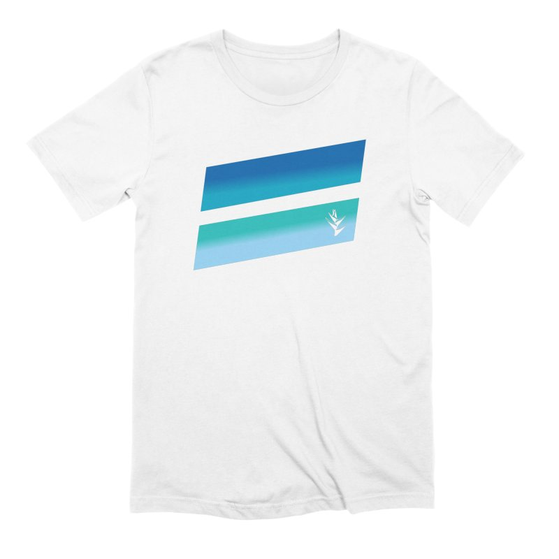 Caribbean Ocean Slants Men's Extra Soft T-Shirt by Caribea