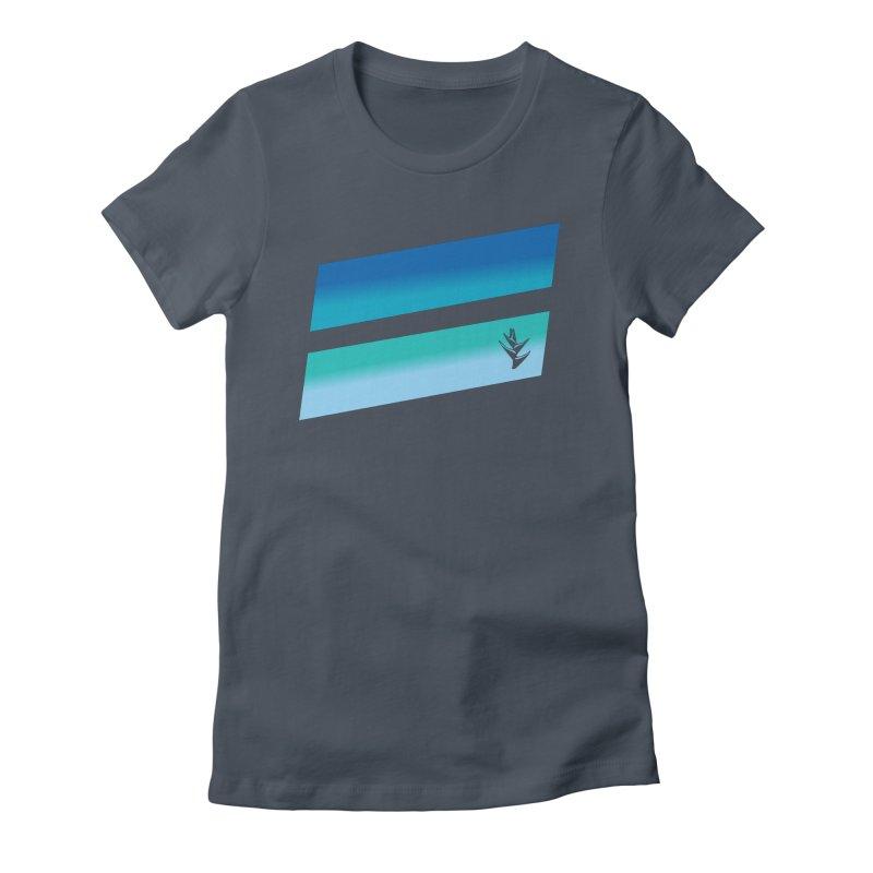 Caribbean Ocean Slants Women's Fitted T-Shirt by Caribea