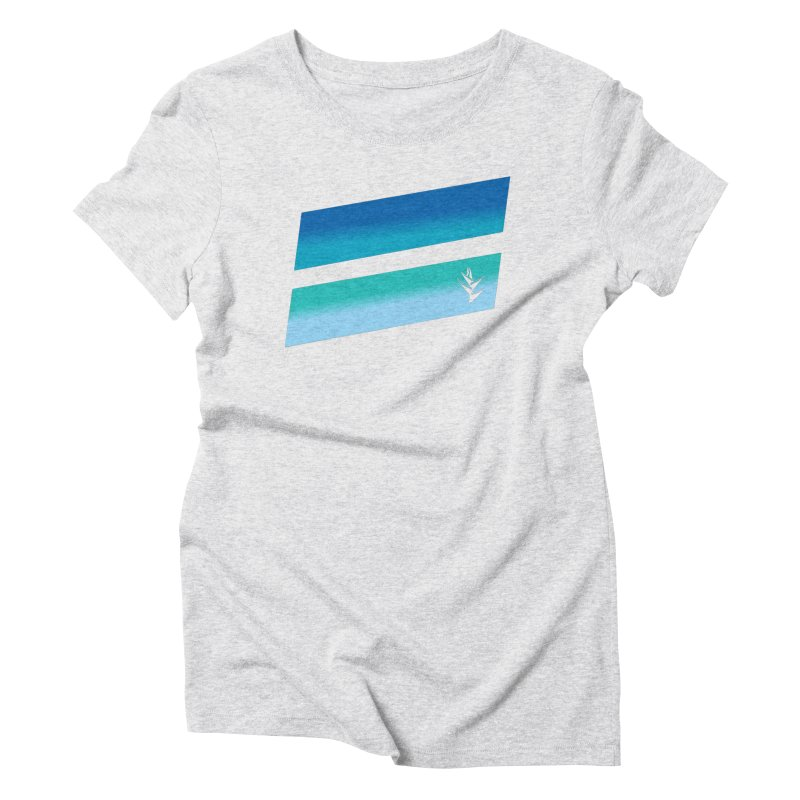 Caribbean Ocean Slants Women's Triblend T-Shirt by Caribea