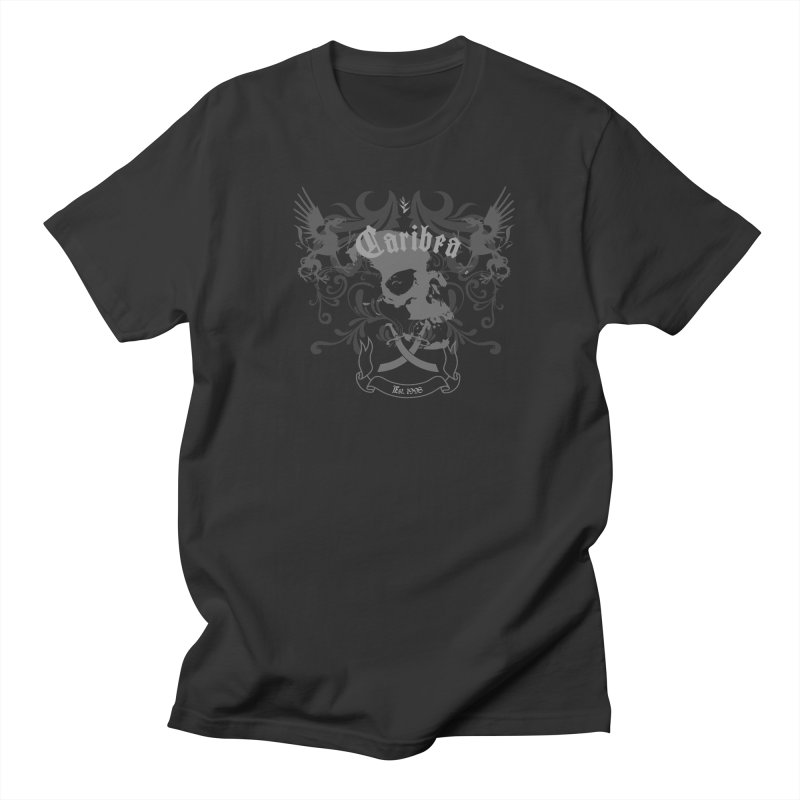 Caribea Skulls Crest Men's Regular T-Shirt by Caribea
