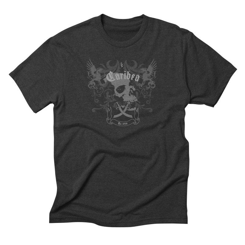 Caribea Skulls Crest Men's Triblend T-Shirt by Caribea