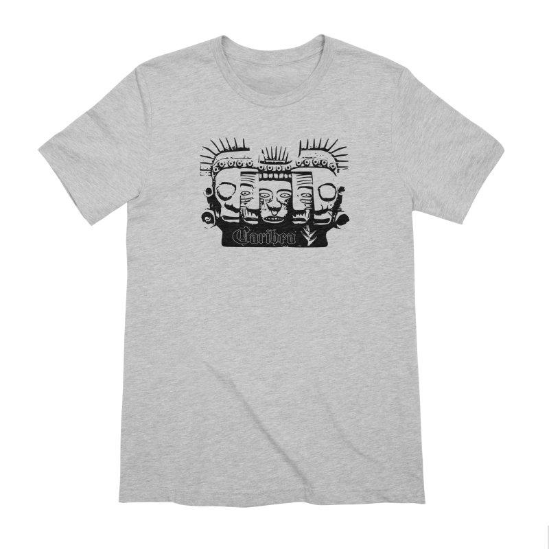 Caribea Masks Black Men's Extra Soft T-Shirt by Caribea