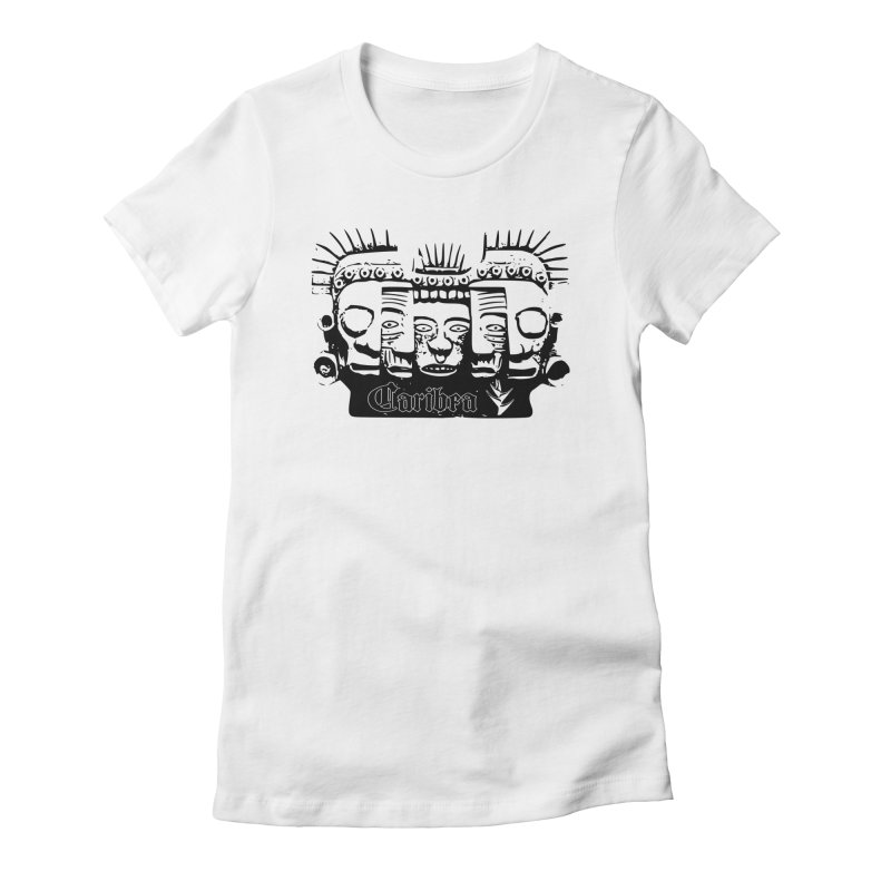 Caribea Masks Black Women's Fitted T-Shirt by Caribea