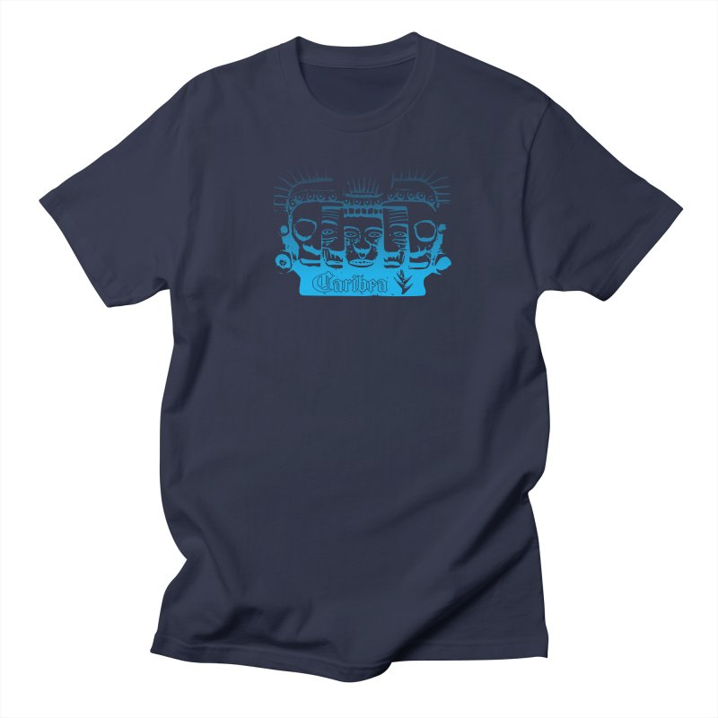 Mayan Faces Blue Men's Regular T-Shirt by Caribea