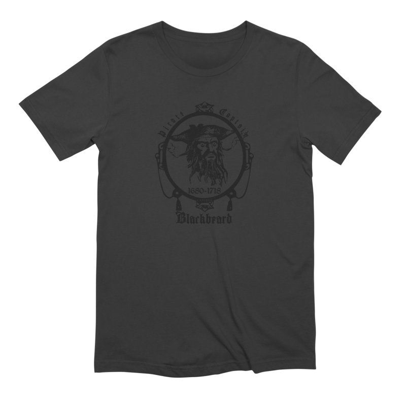 Captain Blackbeard in Men's Extra Soft T-Shirt Smoke by Caribea