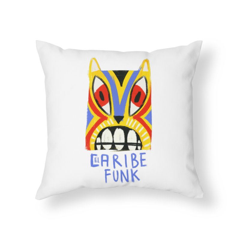 A MI BURRO Home Throw Pillow by Caribefunk Store