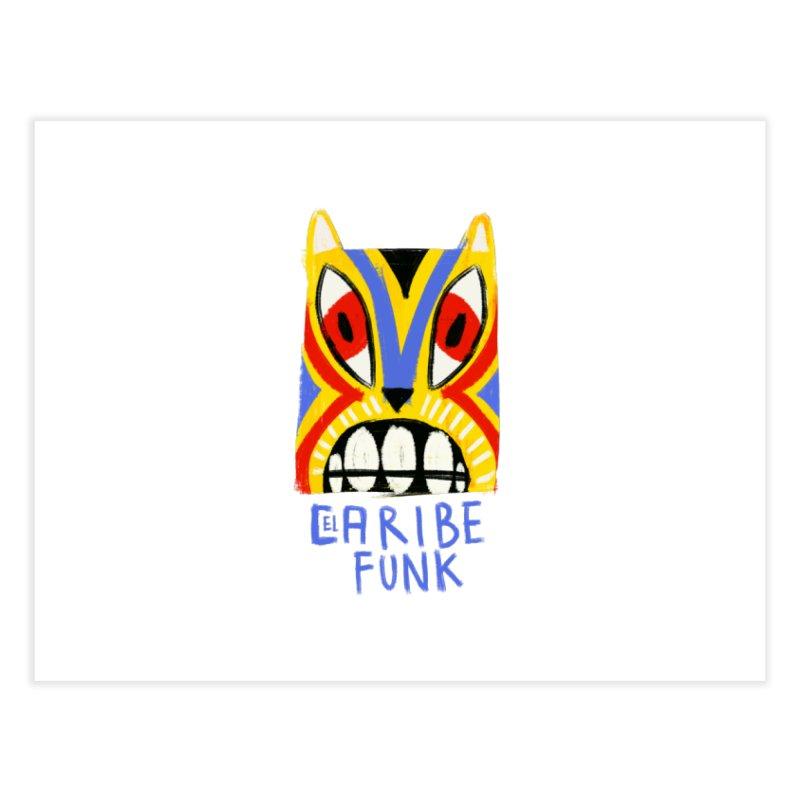 A MI BURRO Home Fine Art Print by Caribefunk Store