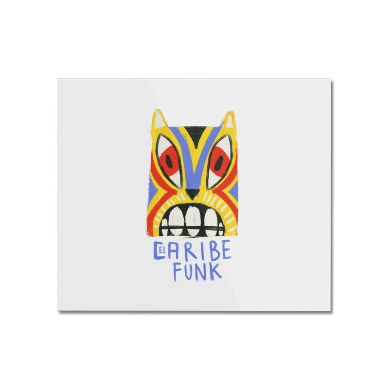 A MI BURRO Home Mounted Acrylic Print by Caribefunk Store