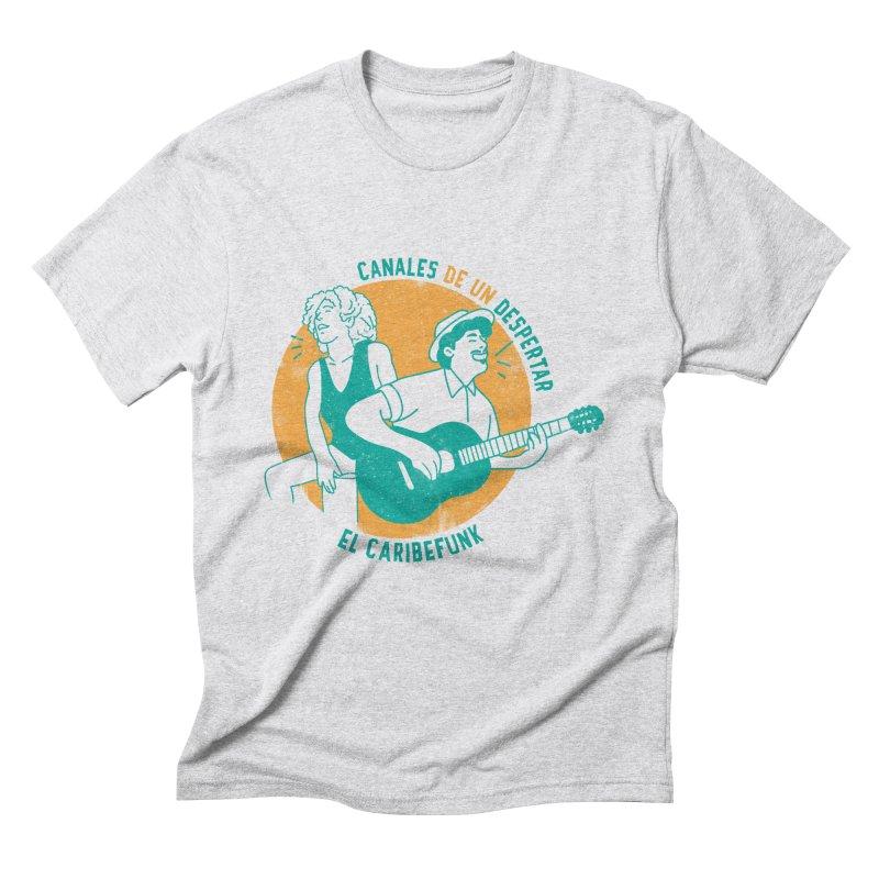 CANALES DE UN DESPERTAR Men's Triblend T-Shirt by Caribefunk Store