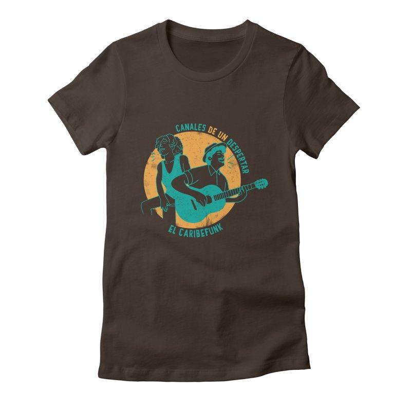 CANALES DE UN DESPERTAR Women's Fitted T-Shirt by Caribefunk Store