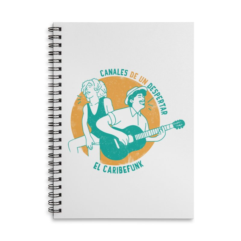 CANALES DE UN DESPERTAR Accessories Lined Spiral Notebook by Caribefunk Store