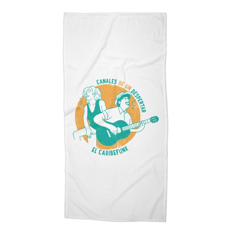 CANALES DE UN DESPERTAR Accessories Beach Towel by Caribefunk Store
