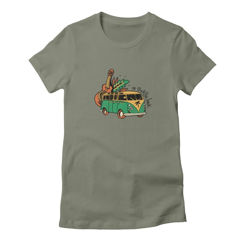 VIAJEROS Women's Fitted T-Shirt by Caribefunk Store