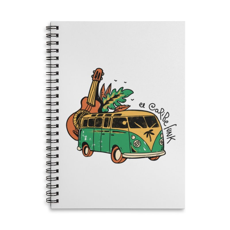 VIAJEROS Accessories Lined Spiral Notebook by Caribefunk Store