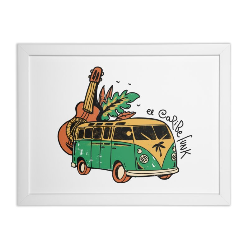 VIAJEROS Home Framed Fine Art Print by Caribefunk Store