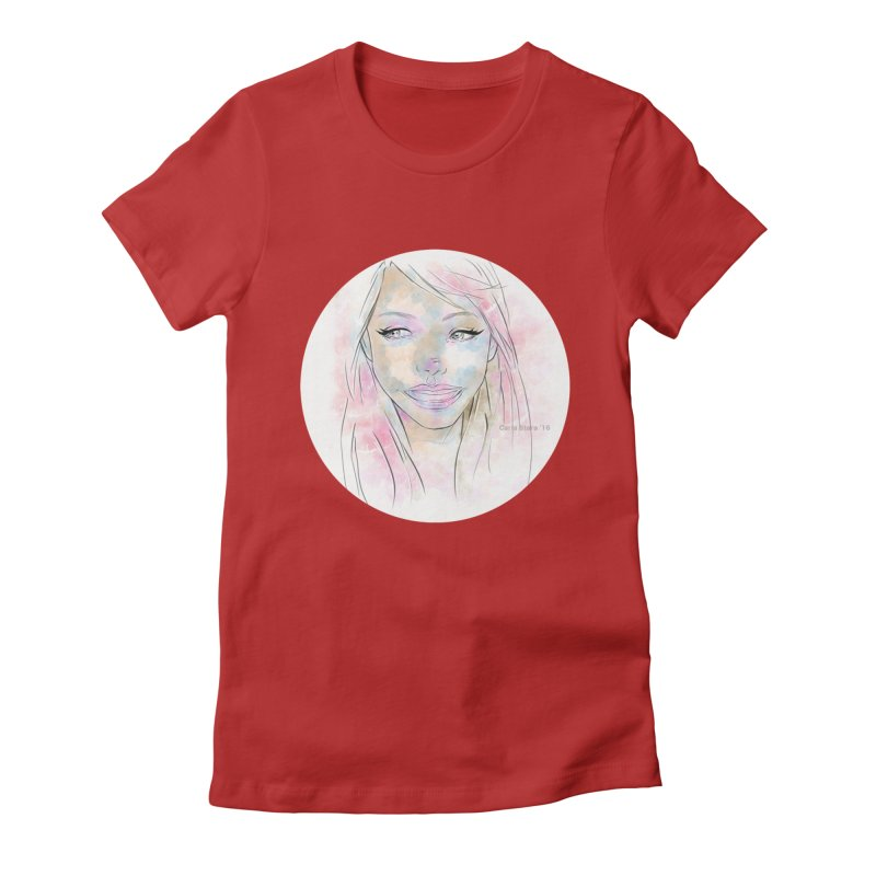 Universe 1 Women's Fitted T-Shirt by carla's Artist Shop